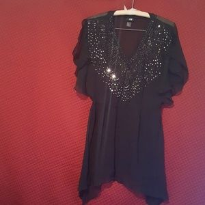 H&M Black sequenced tunic